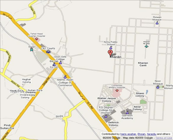 map of kharian